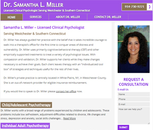 Website Design for Connecticut Psychologist