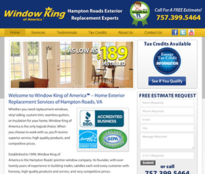 Hampton Roads, VA Webpage Redesign